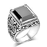 Männer Vintage Square große Kristall Stein Krone Ring Ehering Gold Achat rot Größe N 1/2 hohe QualitätDauerhaft