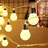 Wandskllss Solar Lichterkette Gartenlichter Outdoor Wasserdichte Led Lichterketten Hängende Laterne DekoraWarm6.5m30 Lampen