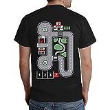 Witziges Geschenk für jeden Papa - Straße auf Rücken als Kinder Spiel T-Shirt L Schwarz