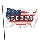 PT&CM Ferda Letterkenny Flagge, haltbare Farbe, verstärkte Doppelnaht, Leinwandkante, Polyester mit Messingöse, 7,6 x 12,7 cm