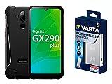 Gigaset GX290Plus - Outdoor Smartphone ohne Vertrag - wasserdicht, 32 GB Speicher, 3 GB RAM, Android 10, Titanium Grey inkl. Fast Wireless Charger