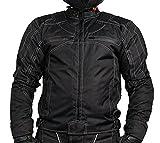 L&J Motorradjacke - Jacke mit herausnehmbaren Protektoren - Textil Motorrad Jacke Biker Chopper (XL)
