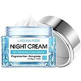 Lagunamoon Hauterneuernde Nachtcreme für Gesicht, Ceramid 1, Niacinamid, Peptidkomplex und Hyaluronsäure Gesichtsfeuchtigkeitscreme für Frauen, Hydrat, Erweichung und glatte Haut, 1,76 Unzen