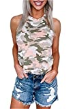 Damen Bluse Top Tank Neckholder Schulterfrei Sommer Shirt Tops (L, Rosa)