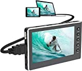 HD-Video Grabber 1080P 60FPS USB 2.0-Video-zu-Digital-Wandler mit 5-Zoll-OLED-Bildschirm, AV- und HDMI-Videorecorder-Aufnahme von Videorecordern, DVDs, VHS-Bändern, Hi8, Camcordern und Spielesystemen