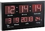 Lunartec LED Funkuhr: LED-Funk-Tisch- und Wanduhr mit Datum und Temperatur, 412 rote LEDs (Funk Wanduhr Digital)