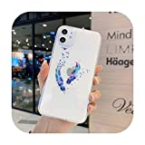 Muster Handyhülle für iPhone 11 12 Mini Pro Max Soft Clear Silikon Cover für iPhone X XR XS Max 8 7 6 Plus SE 2020 Coque Funda-K-For iPhone 12
