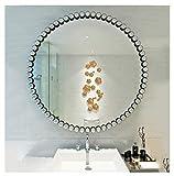 XAGB Wandspiegel, groß, rund, Metallrahmen, für Wohnzimmer, Badezimmer, übergroßer dekorativer Spiegel (Farbe: 40 cm)
