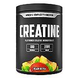 Creatine von IRON BROTHERS – Kreatin Monohydrat in Ultra Pure Qualität | Geschmacksneutral oder 5 fruchtigen Geschmacksrichtungen | Optimale Löslichkeit | 500g Dose | MADE IN GERMANY (Peach IceTea)