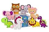 Happy Felties Jumbo-Packung (8 Figuren) – Filz-Tier-Bastelset – lustiges DIY Stofftier Handwerk für Kinder Jungen und Mädchen