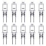 G4 Halogenlampen, Techgomade 20 Watt G4 Halogen-Stiftsockellampe, 12V, 3000K Warmweiß, Dimmbar, G4-Sockel Niedervolt-Halogenl