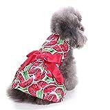 Tasogo Haustierkleidung für Hunde, Bulldogge, Mops, kleine Hunde, französische Bulldogge, Puppenkostüm, Katzenkostüm, rotes Kleid