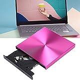 BHDK DVD-Reader, praktischer CD-Brenner Durable Rose Red mit hartem Material für Laptop(Rose Red, Pisa Leaning Tower Type)