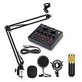ROM Verstellbarer Scherenauslegerarm, BM-800 Kondensatormikrofon-Kits, V8 Soundkarte, Für Podcast-Karaoke-Live-Streaming-Aufnahmen