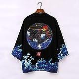 Vottle Japanische Obi männliche Yukata Kimono Strickjacke Herren Haori Japanische Samurai Kleidung Traditionelle japanische Kleidung