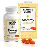 Die einzigen Vitamine für Kinderwunsch & Schwangerschaft in Fruchtgummi Form - Yummygums Mommy enthält 15 Vitamine und Mineralien, wie Folsäure, Biotin, Vitamin B12 – Monatspackung mit 90 Gummies