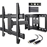 TV Wandhalterung Schwenkbar Neigbar max.VESA 600x400mm für 37 - 75 Zoll Flach & Curved Fernseher bis zu 60kg