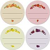 4er Set Etiketten Marmelade (72 Stk. - 4cm klein) - Homemade Aufkleber - Selbstklebend, ablösbare Sticker - Klebeetiketten zum Beschriften - Einmachetiketten in Kraftpapier Optik - Rund