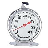 Ofenthermometer Edelstahl, Backofenthermometer 400 Grad Rostfrei, zum Aufhängen und Hinstellen Backofen Grillthermometer, Oven thermometers Durchmesser - 7 cm