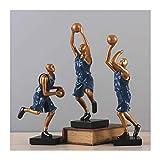 Statue Statue Einfache und Moderne Basketball Skulptur Dekoration Wohnzimmer Neues Haus Home Weiche Dekoration TV-Schrank Dekoration Skulpturen (Color : B)