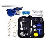 Rehomy Uhrenreparatur-Werkzeug-Set Gliederentferner Federsteg-Entferner Werkzeug Uhrengehäuseöffner zum Austausch der Batterie