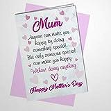 Grußkarte zum Muttertag mit Umschlag, unhöflich, lustig, frech, witzig, etwas Besonderes, innen unbeschriftet