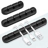 Kabelklemmen, 3er-Pack Kabelorganisator Ladegerät Kabelmanagement für die Organisation von Home-Office-Schreibtisch Telefon Auto-Kabel, selbstklebende Kabelhalter