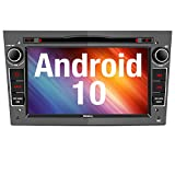 Vanku Android 10 Autoradio für Opel Radio mit Navi CD DVD Player Unterstützt Qualcomm Bluetooth 5.0 DAB+ WiFi 4G USB MicroSD 7 Zoll Bildschrim G