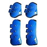 TLM Toys stallgamaschen für Pferd,Einstellbar Bandagen Pferd,Pferd Müde Beine Unterstützung Schützende Gamaschen,PU-Shell,Neopren im Inneren,für den Außenbereich geeignet