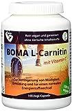 Boma Lecithin 100 L-Carnitin Kapseln mit L-Carnitin-Tatrat (Carnipure®) u. Vitamin C 100 Prozent VEGAN mit Auszeichnung