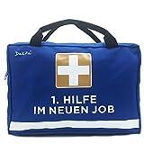 Dakita 1. Hilfe Tasche zum Abschied von Kollegen - 28x18x8cm groß   Lustiges Geschenk zum Abschied von Kollegin zum Jobwechsel   Ideales Abschiedsgeschenk für Arbeitskollegen (Ohne Inhalt, blau)