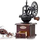 FAGavin Kaffeemaschine, Retro Kaffeemühle, Handgekrankte Kaffeebohnenschleifer Riesenrad, Tragbare Manuelle Kaffeemaschine Mühle