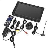 Socobeta Tragbarer digitaler Fernseher Analoge Auto-Fernseher mit DVB-T-T2 1024x600 Auflösung Tragbarer Fernseher 10 Zoll für Schlafzimmer Küchenauto(EU-Stecker)
