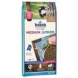 Dog Food Hundefutter Bosch Medium Junior Dry Premium Diät für Welpen mittelgroßer Rassen, Vorteilspackung: 2 x 15 kg