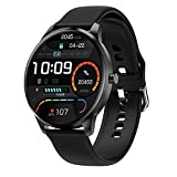 LIEBIG Smartwatch Herren, Fitness Tracker mit Schrittzähler IP68 Wasserdicht Sportuhr mit Pulsuhr Blutdruckmessgerät Schlafmonitor Damen Herren Armbanduhr für Android iOS (Schwarz)