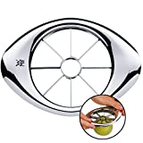WMF Gourmet Apfelschneider Edelstahl 9 cm, Birnenschneider, Apfelteiler, Obstteiler, Cromargan Edelstahl, Obstschneider ideal für Äpfel und Birnen