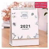 lejia 1pc Einfache Tischkalender DIY Weltkarte Kalender Täglich Monatlich Terminplaner 2.020,07 bis 2.021,12 (Color : 9)