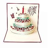 Grußkarten Geburtstag, Deesospro® Geburtstagskarte Geschenk für Ihre Verwandten, Freunde und Liebhaber Special, 3D Pop-up-Grußkarte mit schönen Papier-Cut, Umschlag enthalten (Happy Birthday)