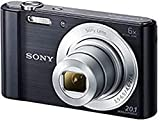 Sony DSC-W810 Digitalkamera (20,1 Megapixel, 6x optischer Zoom (12x digital), 6,8 cm (2,7 Zoll) LC-Display, 26mm Weitwinkelobjektiv, SteadyShot) schwarz