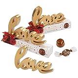 10 Stück | Holz-Dekoration | love auf Box | chocolate emotion | zum Valentinstag | für deine Liebsten