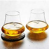 N\A Weinbecher Wide Edge Whisky Tulpe Whisky Tumbler Copita Nosing Gläsern Chivas Trinkbecher Alkohol Spirits Weinverkostung Glass Verre a vin (Capacity : 340ml, Farbe : 1 Cup)