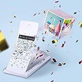 «BOOM!» Explosion Grußkarte - Alles Gute zum Geburtstag! Geburtstagskarte mit Konfetti Wow-Effekt surprise explosion box für Frau Mann Kollegen, Kinder.