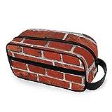 Kulturtasche mit Wandsteinen, abstrakt, Kulturbeutel, Reisetasche, tragbar, Make-up-Tasche, Multifunktions-Aufbewahrungstasche, Leinen, Kulturbeutel für Frauen und M