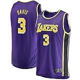 Purple Mamba Herren 3# LosAngelesLakers Jersey Bekleidung Schnell trocknend DavisAnthony Sweat 2020/21 Saison Cool Atmungsaktiv Stoff Weste Gr. Large, violett