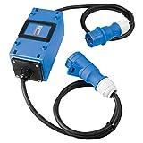 as - Schwabe MIXO Strom/Zwischenzähler MID-konformer Stromzähler mit Rücklaufsperre zur Reduzierung der EEG-Umlage Zwischenstecker Box CEE-Stecker & CEE-Kupplung 3-polig IP44 Made in Germany 61748
