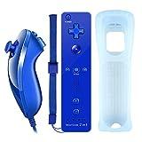 YiYunTE Motion Plus Remote Controller für Wii, 2 in 1 Wireless Bewegung Plus Fernbedienung und Nunchuck Controller für Wii und Wii U mit Silikonhü
