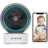 Babyphone WLAN IP Kamera Überwachungskamera Innen WiFi Haustier Kamera HD 1080P,Automatische Verfolgung,Nachtsicht,APP-Alarm,2-Wege-Audio,Bewegungserkennung,iOS/Android,arbeitet mit Alexa 【Kamera】