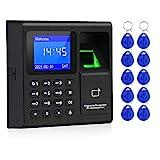 FTSTech 1,8-Zoll-TFT-Fingerabdruck-Zugangskontrollsystem RFID-Karte Passwort Tastaturunterstützung 1000 Benutzer USB-Zeiterfassungsgerät +10 Schlüsselanhänger-Karte