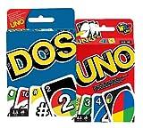Karten-Spiel Set: UNO + DOS, Familie-Gesellschaftsspiele ab 7 Jahren