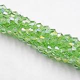 4mm 110pcs AB Farben Bicone Lose Spacer Perlen Glaskristall Facettierte Rondelle Bead für Schmuckherstellung-005AB